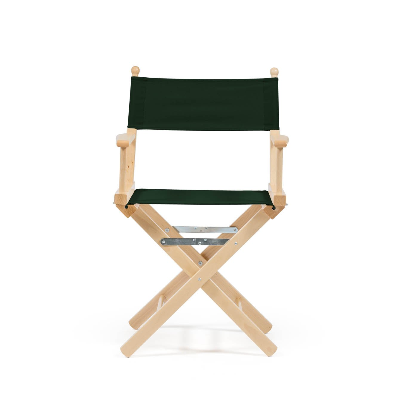 Telami Outlet Folding Beech Wooden Directors Chair Made in Italy 52x46x91,5 cm Dark Green Colour on Waterproof Fabric for Outdoor Furniture