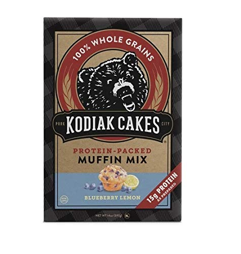 Kodiak Cakes Protein Packed Muffin Mix Blueberry Lemon, 14 Ounce