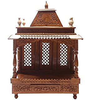 Aarsun Woods Sheesham Handcarved Wooden Temple / Mandir Design ...