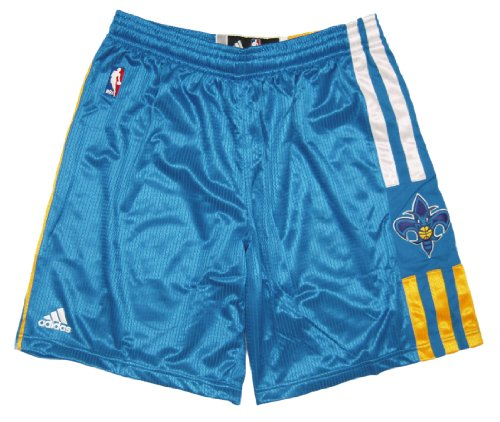 New Orleans Hornets Basketball 2011-12 Team Issued adidas Pre-Game Shorts - Size XL
