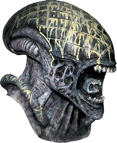 [Alien And The Predator Movie Deluxe Latex Adult Halloween Costume Mask] (Predator Deluxe Mask)