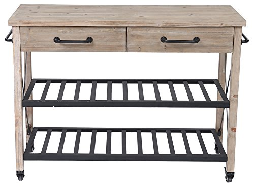 Winsome House Two Drawer Kitchen Cart by Winsome House