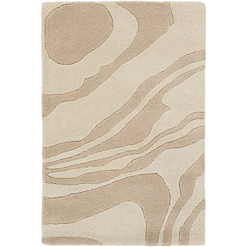 Surya G5126-23 Hand Tufted Modern Accent Rug, 2 by 3-Feet, Light Gray/Olive