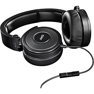 AKG K619BLK Premium DJ Headphones with In-Line Remote and Microphone, Black