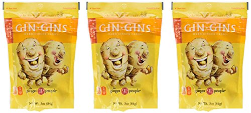 Ginger People Gin-Gins Natural Hard Candy 3Ounce Bags - (Pack of 3)
