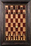 Chess pieces included on Red Cherry Straight Up Chess Vertical Chess board