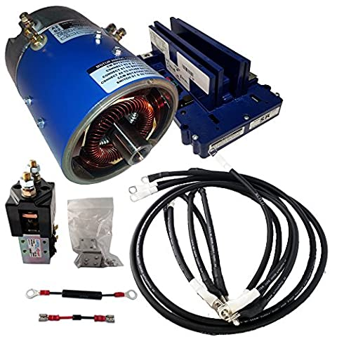 Golf Cart Motors - Club Car Motor & Controller High Speed Combo for Series (5K-0) Carts - 25 mph +5% Torque - 170-007-0002 Motor w/ 400 Amp Controller (Blue Option) - includes Solenoid & Wire - High Speed Golf Cart Motor