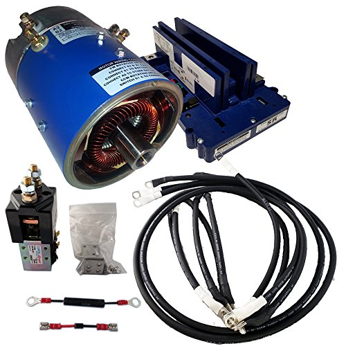 Golf Cart Motors - Club Car Motor & Controller High Speed Combo for Series (5K-0) Carts - 25 mph +5% Torque - 170-007-0002 Motor w/400 Amp Controller (Blue Option) - (400 Series Combo)