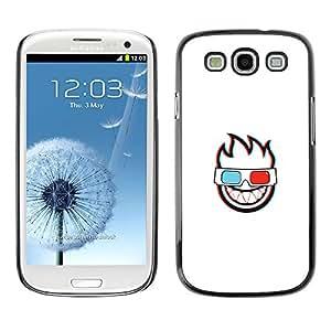 EJOY---Cubierta de la caja de protección la piel dura para el / Samsung Galaxy S3 / --CARA LLAMEANTES 3D