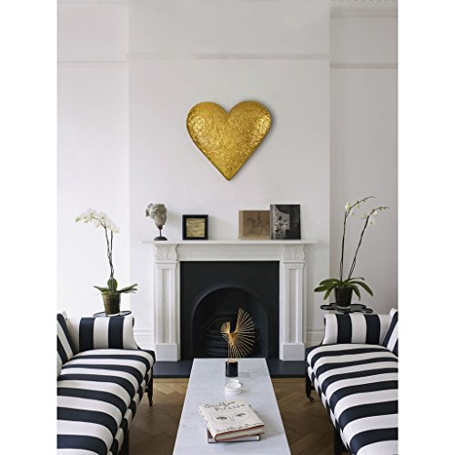 Renwil Gold Resin Heart-shaped Wall Art - metal heart home wall art decor