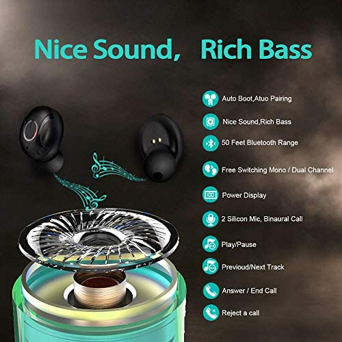 Active Noise Canceling Headphones, Upgraded 6.3oz Lightweight Wireless Bluetooth Headphones Over Ear with CVC6.0 Mic, 20Hrs Playtime for Travel TV PC Cellphone