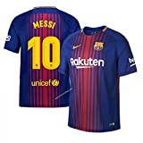 Barcelona Home Messi Jersey 2017/2018 (Official Printing) (Large)