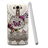 For LG G3 D855 D852 Case Soft TPU Silicone Cases Beautiful Protective Cover Elegant Plastic Butterfly Shell