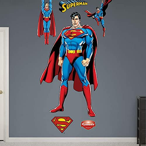 Superman Justice League REAL.BIG. Fathead Wall Graphics 4'0