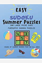 Easy Sudoku Summer Puzzles: 200 Large Print Easy Funtastic Sudoku Puzzles Paperback