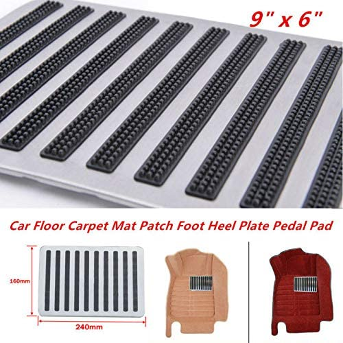 Universal 25x16cm Car Floor Carpet Mat Patch Foot Heel Plate Pedal Pad Magical
