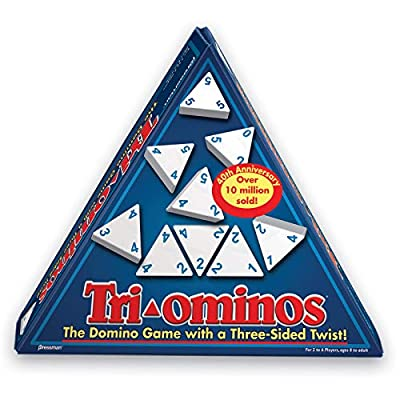 Tri-Ominos - Travel Edition with Lightweight Playing Tiles by Pressman: Toys & Games