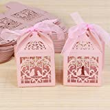 ULTNICE 50pcs Hollow Wedding Favor Candy Chocolate