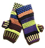 Solmate Socks Mismatched Fingerless Mittens, One Size, D