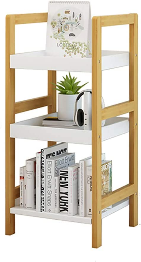 DULPLAY Madera Espesado Estantería de bambú, 4-Tier Multiusos Librería Estantería Decorativa Organizador de Almacenamiento Pie de para hogar u Oficina -A 30x30x72cm(12x12x28inch): Amazon.es: Hogar