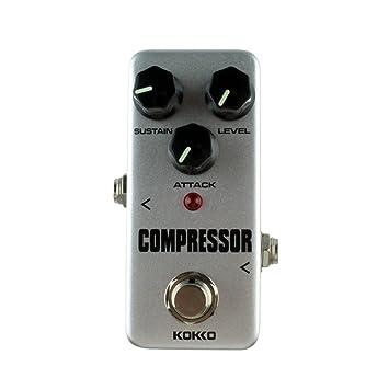 Aleación de Aluminio FCP2 Mini Compresor Pedal Guitarra Instrumentos Musicales Efectos (Color: gris): Amazon.es: Instrumentos musicales