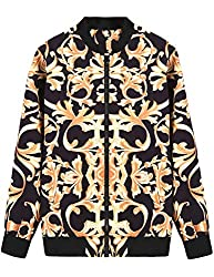 Men's Printed Long Sleeve Bomber Jacket