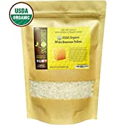 Sky Organics USDA Organic White Beeswax Pellets by (1lb) -Superior Quality Pure Bees Wax No Toxic Pesticides or Chemicals - 3 x Filtered, Easy Melt Pastilles- For DIY, Candles, Skin Care, Lip Balm