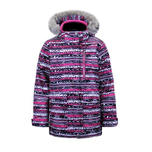 Boulder Gear 9303R Youth Girls Lou Lou Jacket, Pink Natty Print - L by Boulder Gear