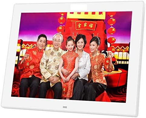 12 Inch Digital Picture Frame 720P IPS Large HD Ultra-Thin Full Angle 1024/×768 with Remote Control Advertising Machine Wall-Mounted