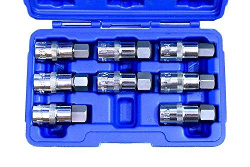 "8 pc 1/2"" Drive Jumbo Hex Bit Socket Set SAE & Metric Standard MM,NEW from Jikkolumlukka"
