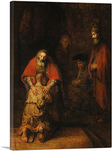 ARTCANVAS The Return of The Prodigal Son 1669 Canvas Art Print by Rembrandt Van Rijn – 40 x 26 0.75 Deep