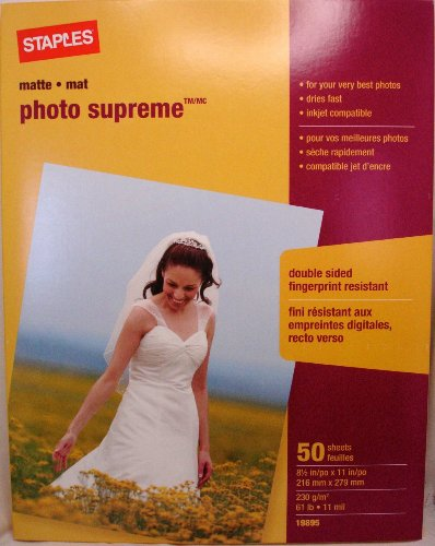 Double Sided Photo Paper - Staples Photo Supreme Paper, 8 1/2