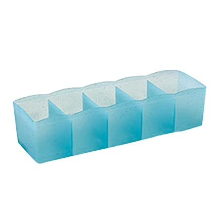 Outstanding Cute 5 Cells Organizer Plastic Storage Box Tie Bra Socks Drawer Cosmetic Divider Tidy Underwear Small Toys Sky Blue Unemploymentrelief Wooden Chair Designs For Living Room Unemploymentrelieforg