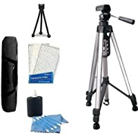 Professional Tripod Kit includes Professional PRO 67 Tripod With Deluxe Soft Carrying Case + Mini Tripod + LCD Screen Protectors + Camera Cleaning Kit For Nikon D40, D40X, D50, D70,D60, D70S, D80, N65, N75, Coolpix 8400, 8800, Pronea S, Nuvis S & Lite Touch Zoom DSLR Cameras