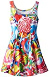 Zara Terez Big Girls' Lollipops Skater Dress, Multi, Large