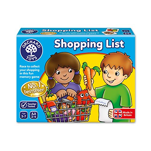 Orchard Toys Shopping List – Educational Memory Game – Age 3-7 – Perfect For Home Learning