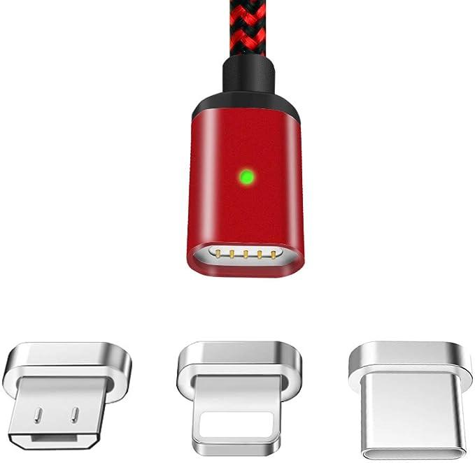 80 opinioni per LAMA Cavo di Ricarica Magnetico, [1.5m/4.9ft] Cavo Magnetico Micro USB Lighteing