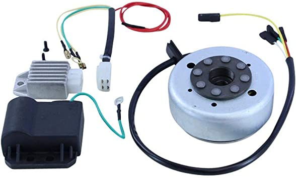 Zündapp Lichtmaschinenumrüstsatz Auf Kontaktlose Zündung 12v 80 125 175 Ccm Spannungsregler Zündspule Lichtmaschine Umrüst Satz Auto