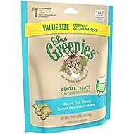 Greenies FELINE Dental Treats for Cats Ocean Fish Flavor 5.5 oz.