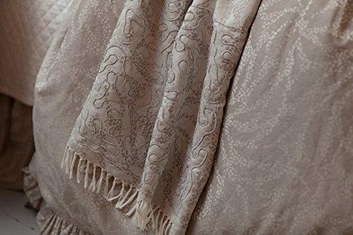 Lili Alessandra ZLT816F Lauren Throw Blanket, Fawn/Ivory, 36