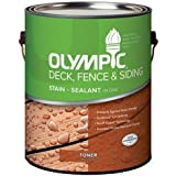 Olympic PPG Inc. 59004A01 Gallon, Redwood, Acrylic Oil Fence & Siding Stain & Sealant In One, Toner