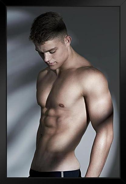 ProFrames - Póster de la película Foundry Handsome and Hunky Hot Guy sin camisa