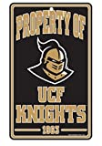 NCAA University Central Florida Champ/Prop of Plastic Sign, 7.25 x 12''
