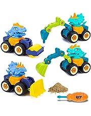 Thedttoy Graafmachine speelgoed vanaf 3 4 5 jaar, 4-in-1 montage bouwspeelgoed bouwvoertuigen set met schroevendraaier educatief speelgoed voor kinderen jongens