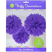 "Amscan New Fluffy, 16"", Purple"