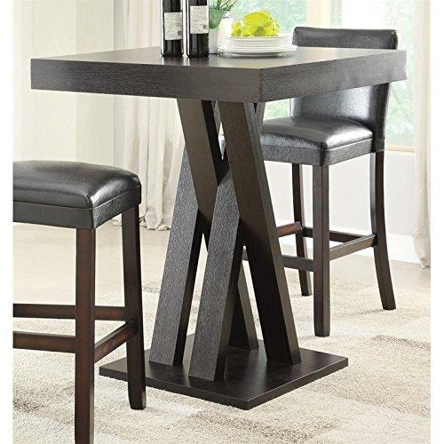Coaster Bar Table-Cappuccino (40 Inch Bar Table)