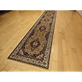 Stunning Silk Gold Rug Multiple Size Beige Rug 2x12 Area Rugs Persian Style Rug Narrow Runner Carpet 2x11 Long Hallway Runners (2'x12' Hallway Runner)