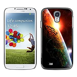 Religiosa inscripción islámica - Metal de aluminio y de plástico duro Caja del teléfono - Negro - Samsung Galaxy S4