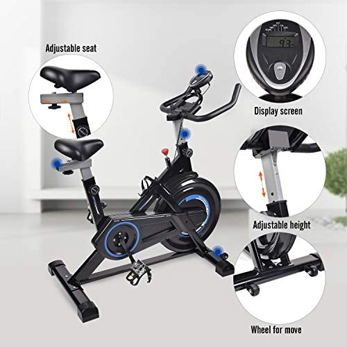 Indoor Cycling Bike Trainer Exercise Spin Bicycle Stationary Bike