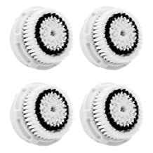 TPLB 4-Pack Delicate Replacement Brush Head for Delicate Skin Cleaning. For Fragile, Delicate or Dry Skin. Works on Face and Body. Compatible with Clarisonic MIA, MIA 2, ARIA, PRO and PLUS Cleansing Systems.